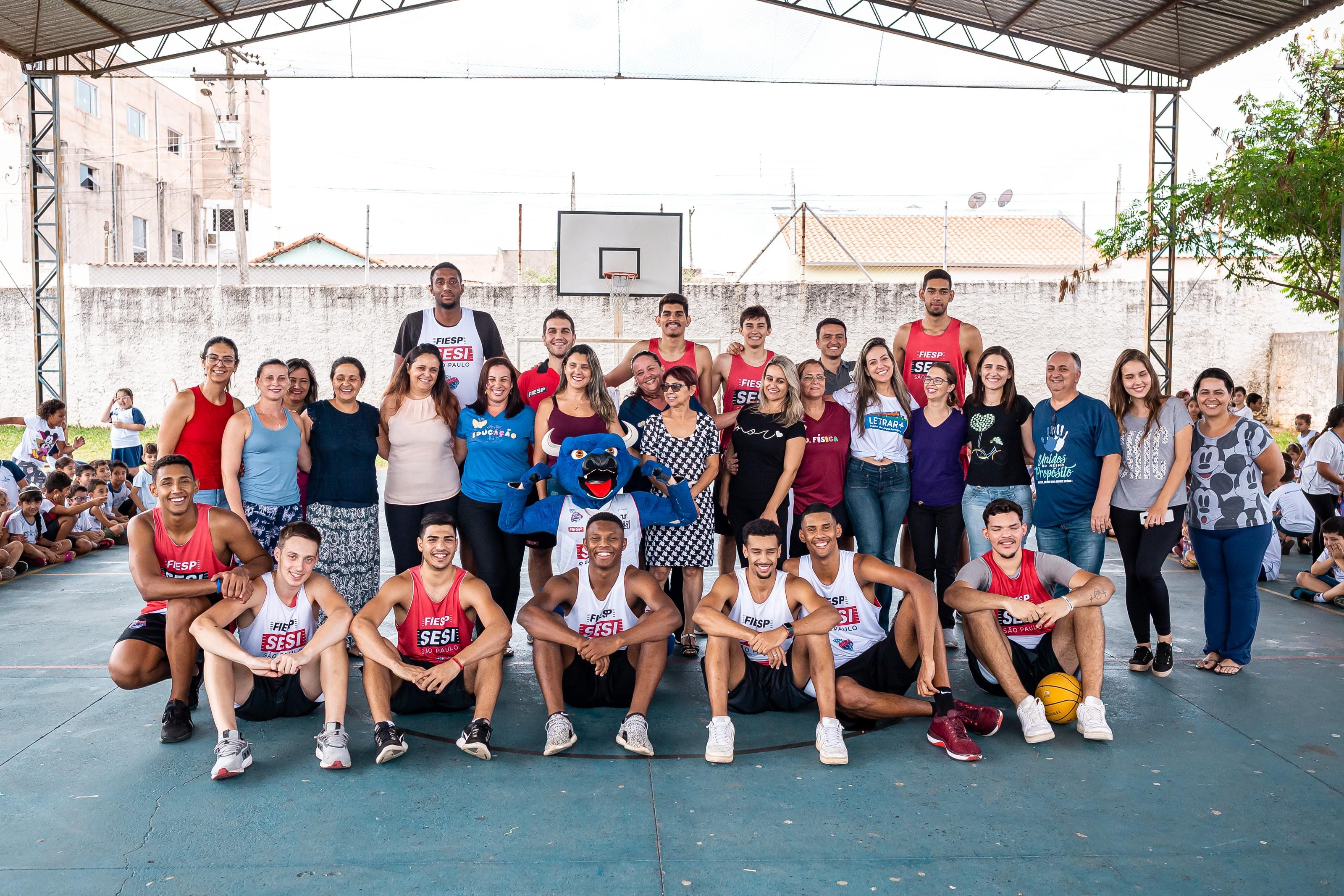 """Sesi Franca Basquete realiza festa de encerramento 2019 do projeto """"Amigos da Escola"""""""