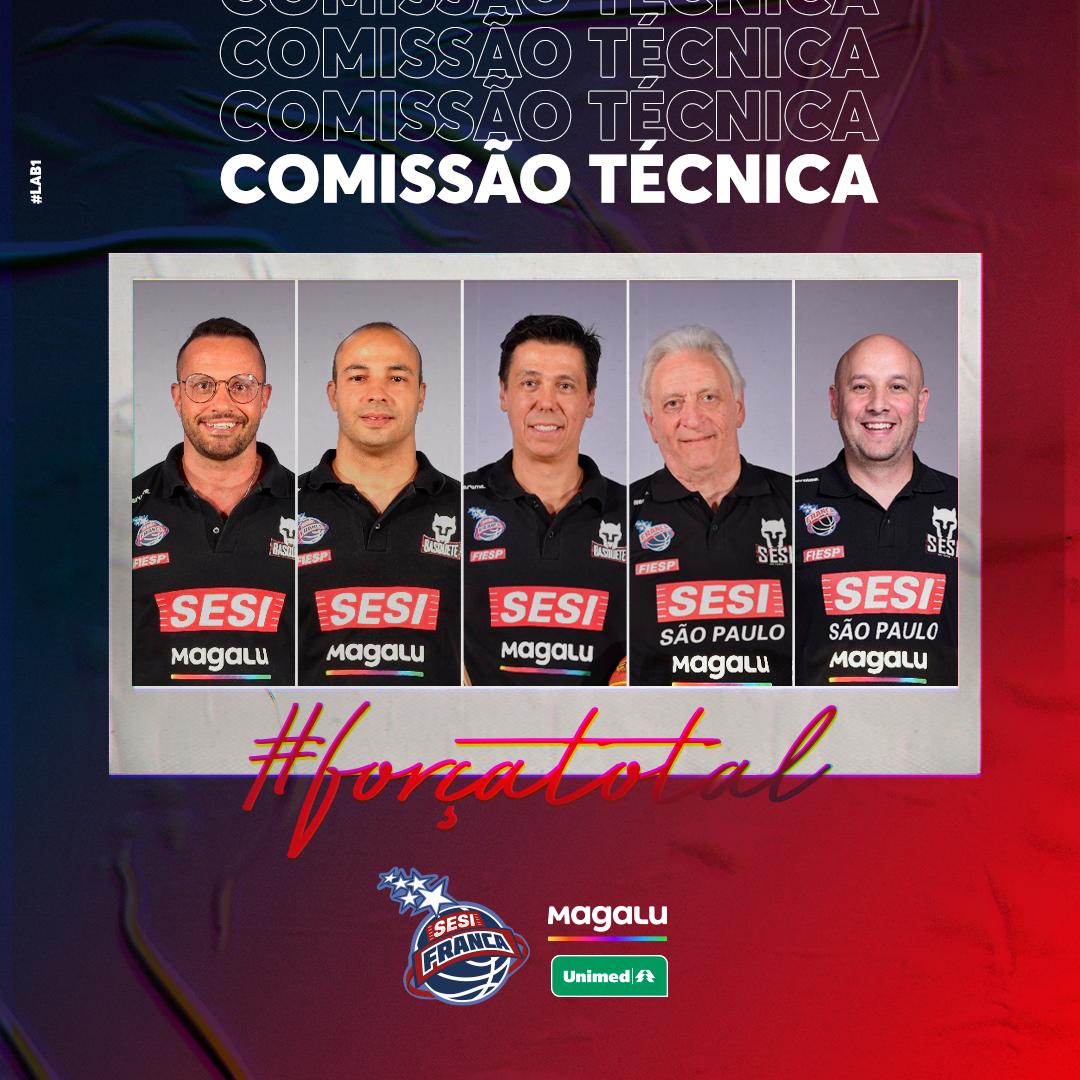 Sesi Franca Basquete renova com comissão técnica para a próxima temporada